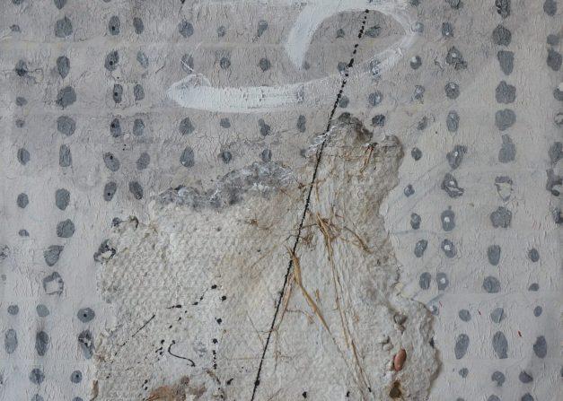Vasile Tolan, Untitled, mixed media on canvas, 2002, 90x90 cm